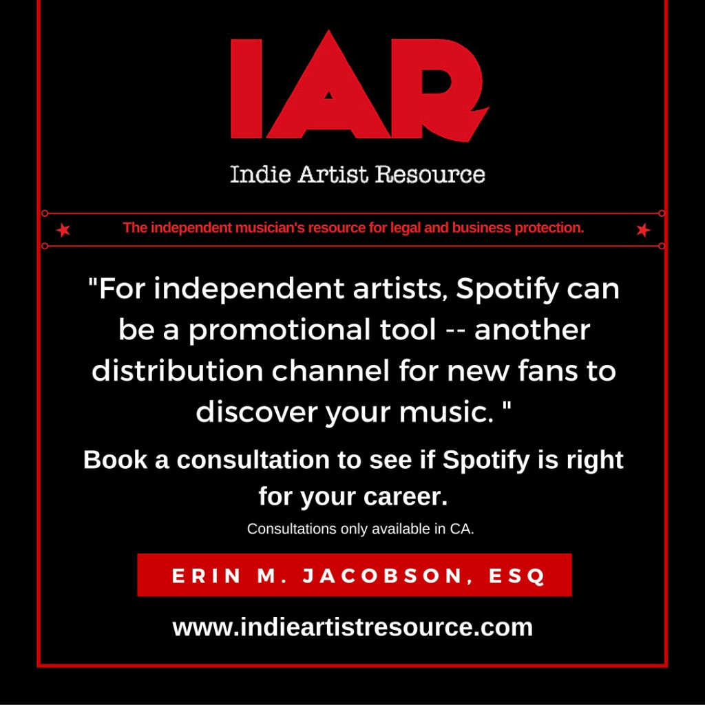 indie artist resource spotify independent musician indie music promotion adele taylor swift erin jacobson