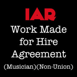 Work Made for Hire - Musician , Non-Union