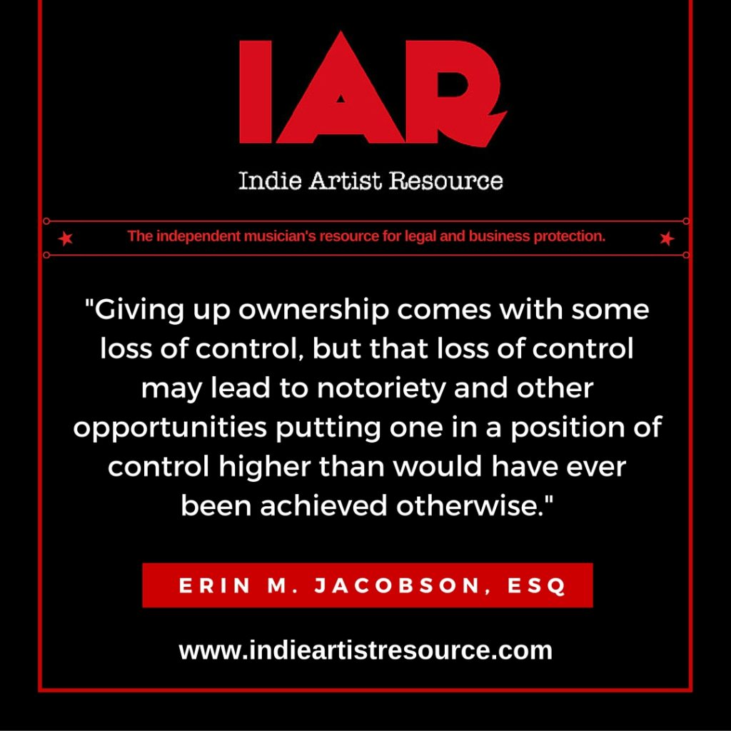 IAR giving up ownership