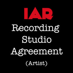 Recording Studio Agreement (Artist)