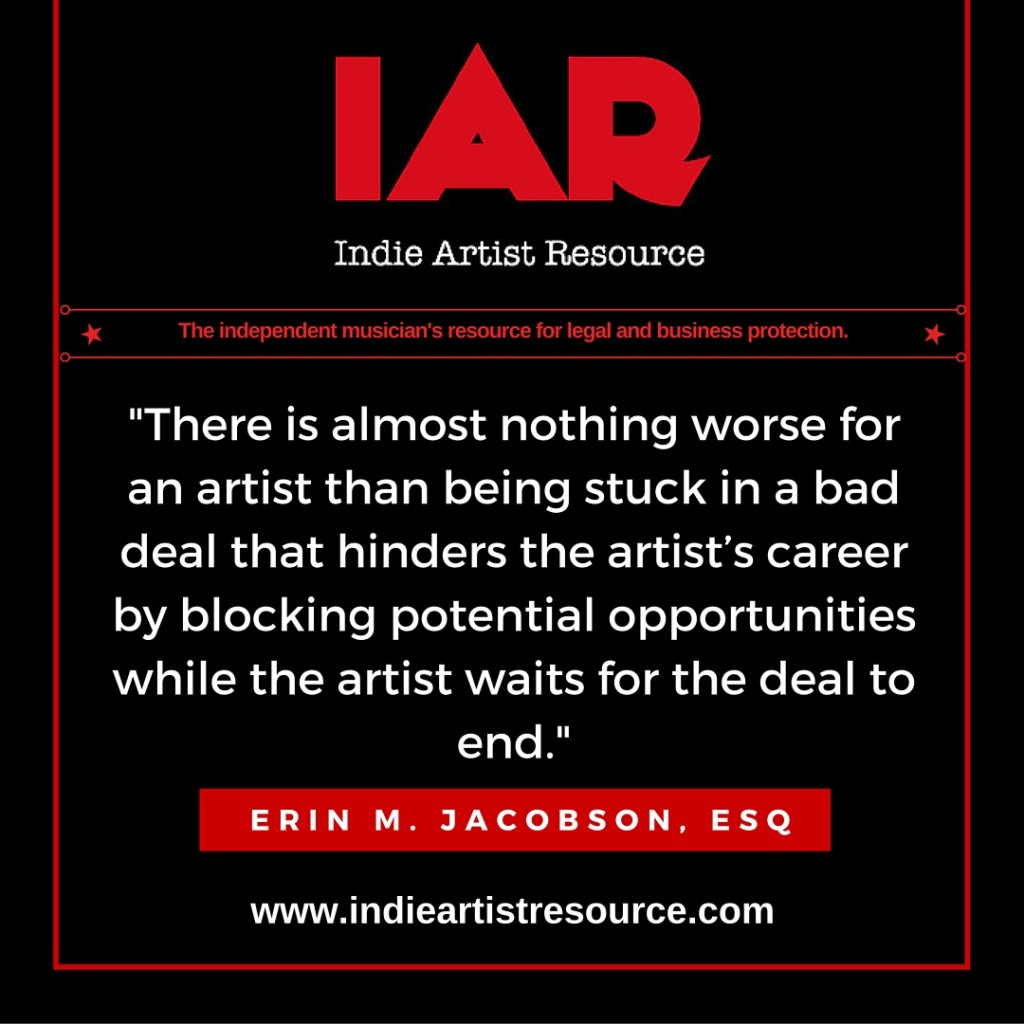 Indie Artist Resource Management Agreement Erin M Jacobson Music Lawyer Attorney